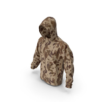 Brown Military Jacket Hood PNG & PSD Images