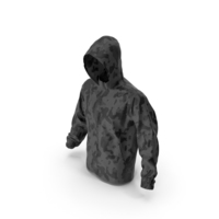 Black Military Jacket Hood PNG & PSD Images