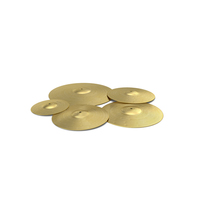 Brass Cymbal Set PNG & PSD Images