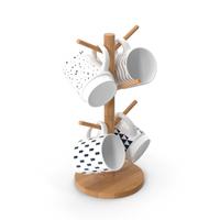 Kitchen Mug Tree Stand Set PNG & PSD Images