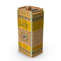 Olive Oil 5 Liter Tin Can PNG & PSD Images