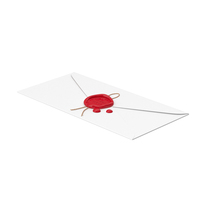 Paper Envelope with Red Wax Seal PNG & PSD Images