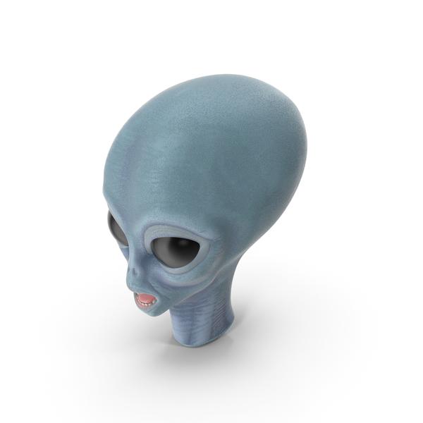 Space Alien Head PNG & PSD Images