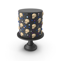 Halloween Cake with Skulls PNG & PSD Images