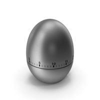 Stainless Steel Egg Shaped Kitchen Timer PNG & PSD Images