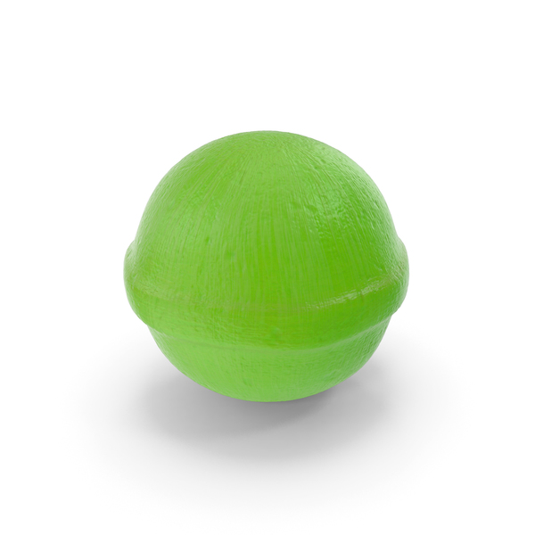 Spherical Hard Candy Green PNG & PSD Images