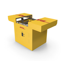 DHL Express Station with Delivery Drone PNG & PSD Images