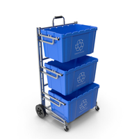 Frontgate Recycling Cart with Bins PNG & PSD Images