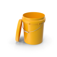 Plastic Bucket 20L with Lid PNG & PSD Images