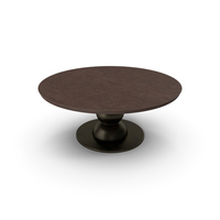 Fendi Table Walnut Damaged PNG & PSD Images