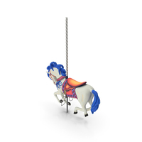 Carousel Galloping Horse White PNG & PSD Images