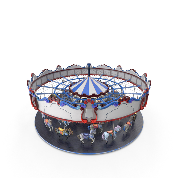 Park Carousel with Horses PNG & PSD Images