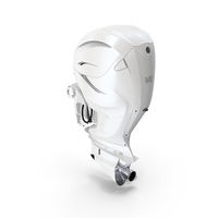 V8 Outboard Boat Motor White PNG & PSD Images