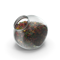 Spherical Jar With Oval Hard Candy PNG & PSD Images