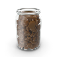 Jar With Caramel Oval Hard candy PNG & PSD Images