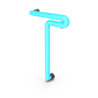 Neon Letter T PNG & PSD Images