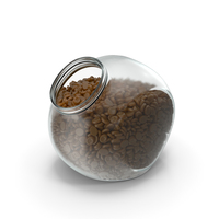 Spherical Jar With Caramel Oval Hard Candy PNG & PSD Images
