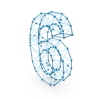 Wire Alphabet Number 6 PNG & PSD Images