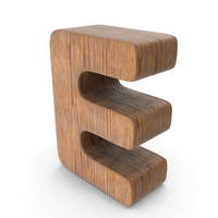 E Wooden Letter PNG & PSD Images