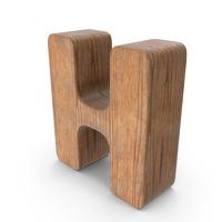 H Wooden Letter PNG & PSD Images