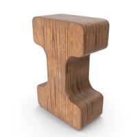 I Wooden Letter PNG & PSD Images