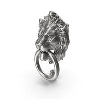 Lion Door Knocker Silver PNG & PSD Images