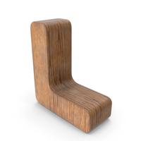 L Wooden Letter PNG & PSD Images