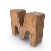 M Wooden Letter PNG & PSD Images