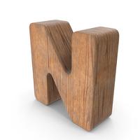 N Wooden Letter PNG & PSD Images