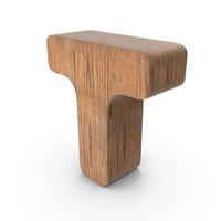 T Wooden Letter PNG & PSD Images
