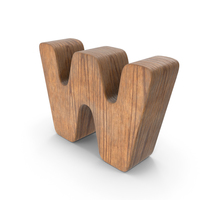 W Wooden Letter PNG & PSD Images