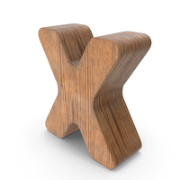 X Wooden Letter PNG & PSD Images