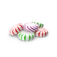 Small Pile of StarLight Peppermint Candy PNG & PSD Images