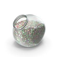 Spherical Jar with Starlight Peppermint Candy PNG & PSD Images