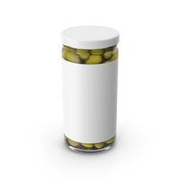 Olives Jar White With Label PNG & PSD Images