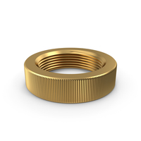 Knurled Nut Gold PNG & PSD Images