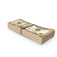 Stack of Ten Dollar Bills PNG & PSD Images