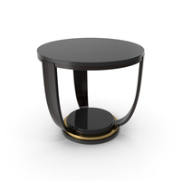 Round Side Table Epoca home Interiors Sl art Deco. PNG & PSD Images