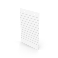 White Sticky Note With Holes PNG & PSD Images