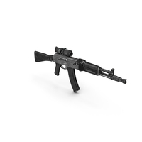 AK104 with Thermal Scope Trijicon IR Patrol M300W PNG & PSD Images