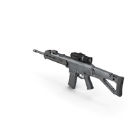 Bushmaster ACR with Thermal Scope Trijicon Patrol M300W PNG & PSD Images