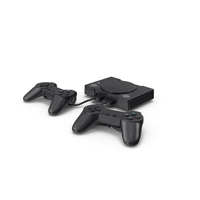 Old Gaming Console with Controller PNG & PSD Images