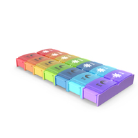 Pill Case Box with 14 Compartments PNG & PSD Images