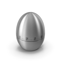 Stainless Steel Egg Shape Kitchen Timer PNG & PSD Images