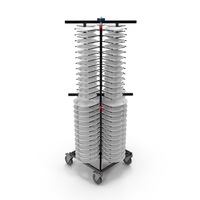 Stainless Steel Professional Plate Rack with Plates PNG & PSD Images