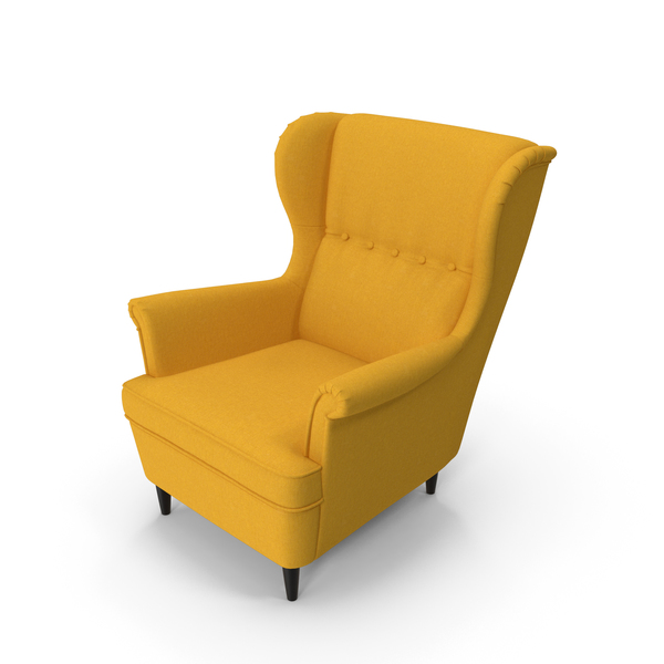 Strandmon Yellow Wing Chair PNG & PSD Images