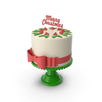New Year Cake with Topper Merry Christmas PNG & PSD Images
