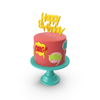 Comic Birthday Cake PNG & PSD Images