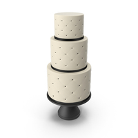 Cascade Cake with Decor of Black Ribbon PNG & PSD Images