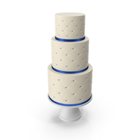 Cascade Cake with Decor of Blue Ribbon PNG & PSD Images